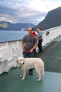 On a ferry through the fjords